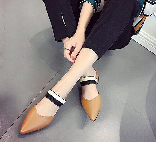 KHSKX-Party With Half Dragged _ Korean Version Of The New Spring And Summer Party With Half Dragged Lady Pointed Shoes Thirty-seven BtxanaCH