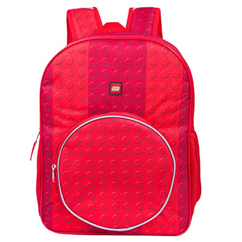 - LEGO Classic Red Brick Backpack - Lego Backpack With Zippered Front Pocket (Red)