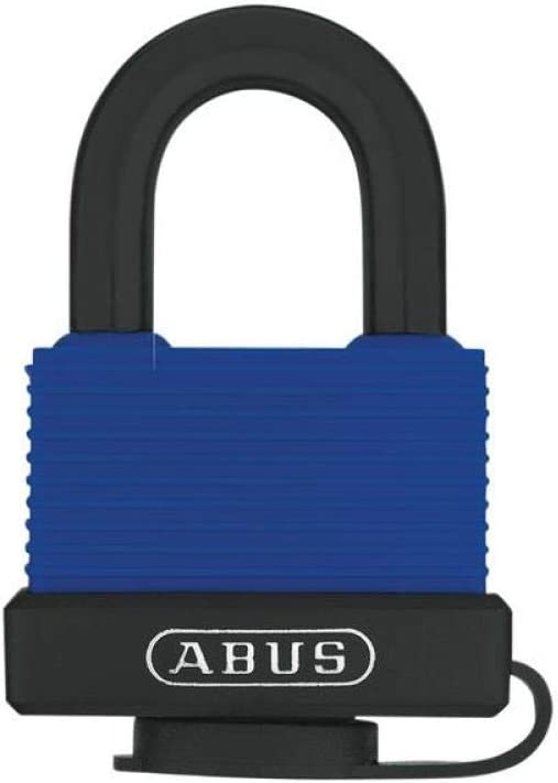 Bicycle Motorcycle Security Blue Plastic Cover Metal Lock w 2 Keys