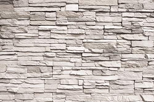 - GREAT ART Photo Wallpaper White Stonewall Decoration 132.3x93.7in / 336x238cm - Wallpaper 8 Pieces Includes Paste.