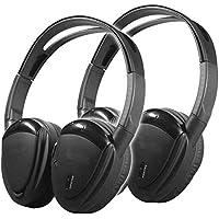 Pair Power Acoustik Hp902rft Folding Wireless Rf Stereo Headphones Hp-902rft
