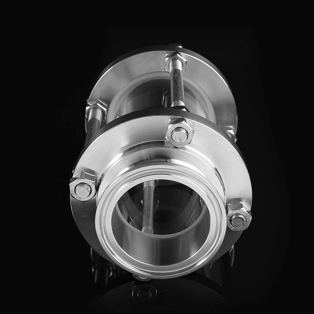 JOYKK 2Virole /à Pince tri-clamp pour Robinet de Flux de Tuyau Argent diam/ètre ext/érieur OD 64mm
