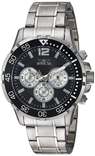 45mm Case Chronograph - Invicta Men's 'Specialty' Quartz Stainless Steel Casual Watch, Color:Silver-Toned (Model: 23665)