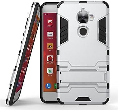 Qiaogle Teléfono Case - Shock Proof PC Hibrida Stents Carcasa Cover para Letv LeEco Le 2 X620 / LeEco Le 2 Pro (5.5 Pulgadas): Amazon.es: Electrónica
