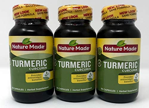 Nature Made Turmeric Capsules 500 Mg, 60 Count Pack of 3