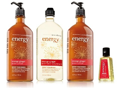 Bath & Body Works Aromatherapy Gift Set Orange Ginger 2 Body Lotion ~ Body Wash & Foam Bath & Small Anti Bacterial Hand ()