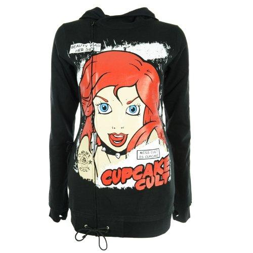 Cupcake Cult Damen Zip Jacke - Miss Cult Hood