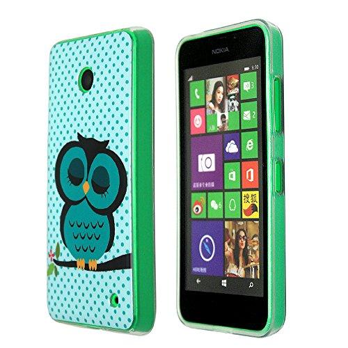 Nokia Lumia 630 Case, Harryshell(TM) Cute Owl Pattern Premium Soft TPU Protective Case Slim Fit Cover for Nokia Lumia 630 with Free Stylus PEN (01)