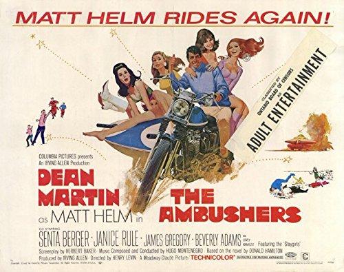 The Ambushers POSTER Movie (1967) Style A 11 x 14 Inches - 28cm x 36cm (Dean Martin)(Janice Rule)(James Gregory)(Albert Salmi)(Senta Berger)(Kurt Kasznar)(Beverly Adams) - Ambushers Poster