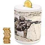 Best United States Gifts Adults - iPrint Army Decor,Kids Boys and Girls Money Bank,Christmas Review