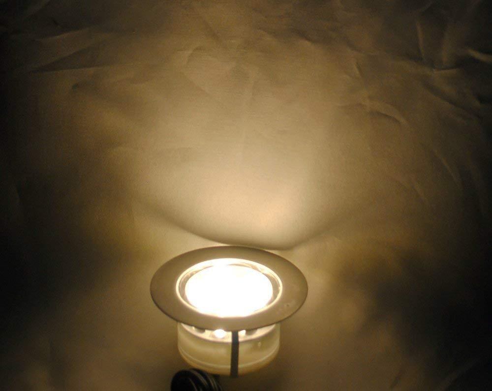 int/érieur et ext/érieur Blanc Froid patio Spot /à Encastrable Lampe de sol-Lumi/ère chemin jardin /étanche IP67 DC12V 1.5W /Ø61mm-/éclairage pour terrasse mur d/écoration