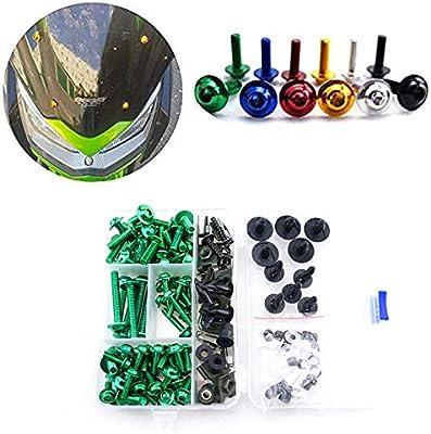 New Green Fairing Bolts Kit Fastener Clips Screw Sportbikes Motorcycle Kawasaki