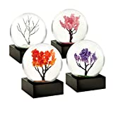 CoolSnowGlobes Four Seasons Winter Spring Summer Autumn Set of Four Mini Cool Snow Globes
