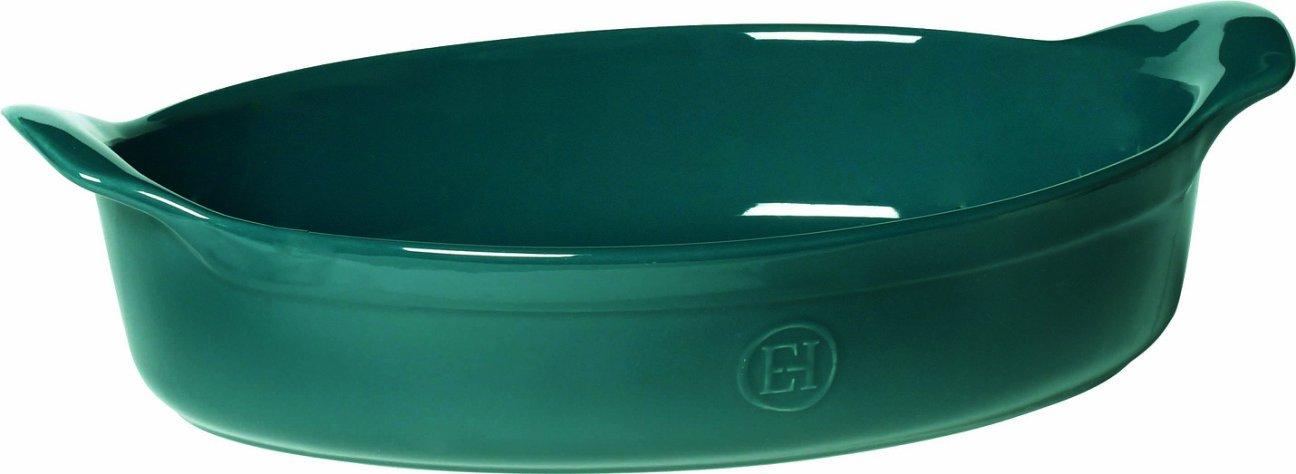 Emile Henry 91979042 Oval Baking Dish 34.5x23.5cm/13.5x9.25-Inch 2.6L/2.7qt, Feu-Doux