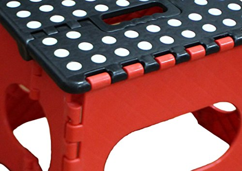 Jeronic Folding Step Stool Red Hardware Tools Ladders