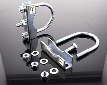 The drive - 2 x rueda para remolque Abrazadera 70 mm de sujeción colgante rueda redondo de tubo de cofre: Amazon.es: Coche y moto
