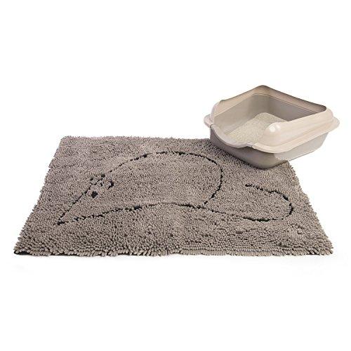 Dog Gone Smart Cat Litter Mat, 35-In by 26-In, Grey