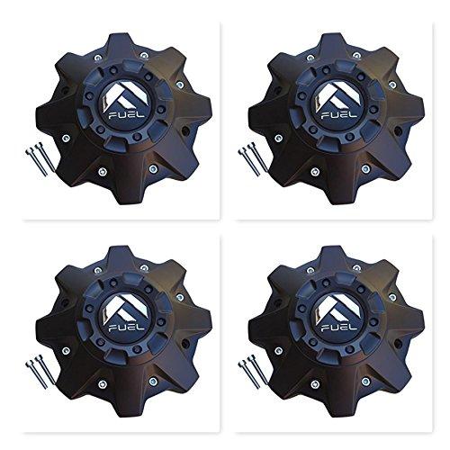 (4 Pack Fuel Offroad 8 LUG M-721BK04 1002-53-B-1 Black Center Cap CAP M-447 ST-MQ804-150 )