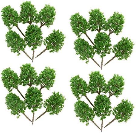 sharprepublic 1/30 樹木 木 モデルツリー 鉄道模型 ジオラマ 箱庭 鉄道 風景 DIY 装飾 アクセサリー 24個入