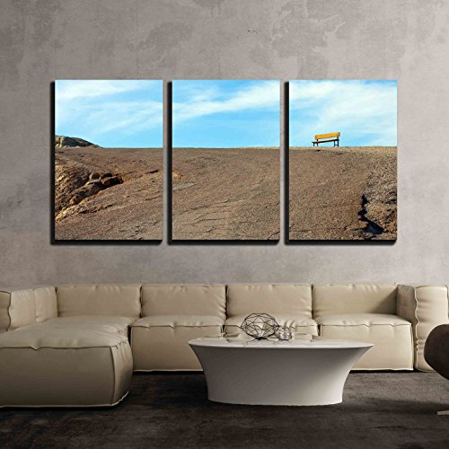 wall26 - 3 Piece Canvas Wall Art - Deth Valley Zabriskie Point California Usa - Modern Home Decor Stretched and Framed Ready to Hang - 16