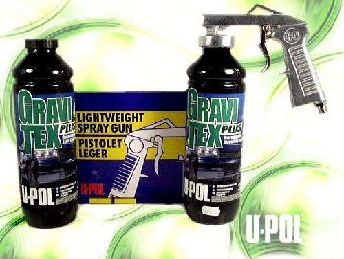 U-Pol 721-2/726 BLACK CHIPGUARD PROTECTOR 1L KIT W/2 CANS BLACK & GUN by U-Pol (Image #4)