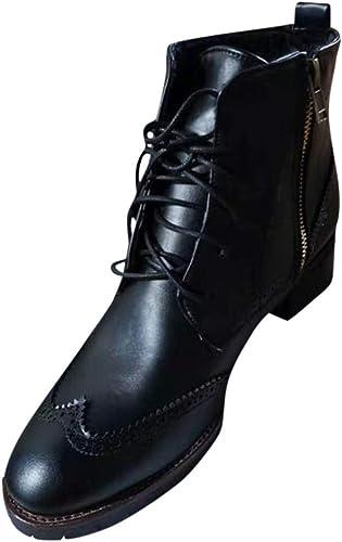 Hommes en à Lacets pour Plates d'extérieur Chaussures Cuir BWQdxCreEo
