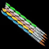 Elevin(TM) 5pcs Acrylic Nail Art UV Gel Carving Pen Brush Liquid No. 2/4/6/8/10