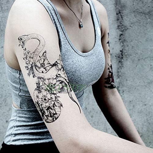 Impermeable Etiqueta engomada del Tatuaje de la Serpiente Flor ...