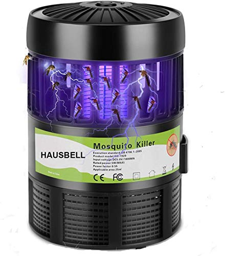 HAUSBELL Mosquito Killer Lamp, Bug Zapper, Mosquito Trap, Pests Trap, Bug Control Inhaler, USB Powered. Works Great with Mosquito Lure (Not Included)