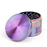 "4-Piece 2""1/2 Herb Grinder Metal Spice Crusher Rainbow Screw thread"
