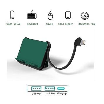 Adaptador USB con Puerto de Carga, Convertidor para Unidad Flash Teclado Lector de Tarjeta, USB Hembra OTG Cable Compatible con iPhone 11 Pro X XR XS ...