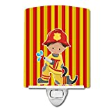 Caroline's Treasures Fireman Boy Ceramic Night Light, Multicolor, 6'' x 4'', BB6995CNL