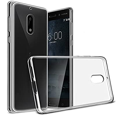 "Nokia 6 Case, Yiakeng Nature TPU Soft Cover Crystal Case Clear Skin Soft Case Slim Case for Nokia6 5.5"" from Yiakeng"