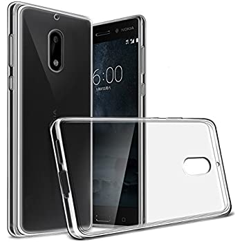 """Nokia 6 Case, Yiakeng Nature TPU Soft Cover Crystal Case Clear Skin Soft Case Slim Case for Nokia6 5.5"""" (Clear)"""