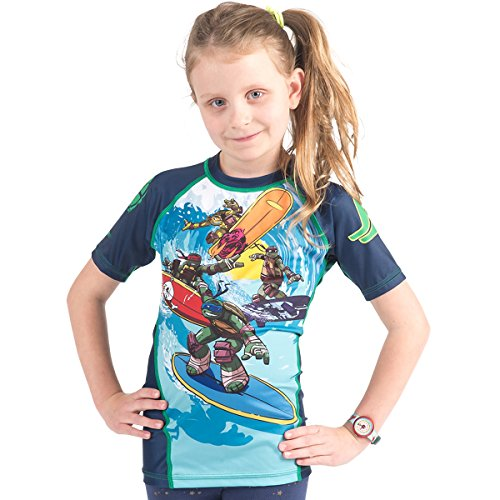 (Fusion Surf Gear TMNT Sewer Surfin' Kids Rashguard - Short Sleeve (L))