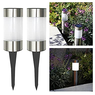 Frostfire Small Solar Post Lights (Set of 2)