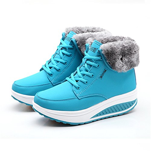Plus Shoes Flat Cotton Winter Padded 3 Swing Snow Boots Female Shoes Thermal Annie Platform Blue Better Boots Velvet Women Ankle q6xtZWw