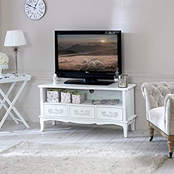 Superieur Melody Maison Antique White TV Cabinet   Pays Blanc Range