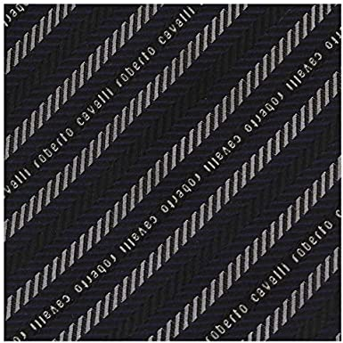 Roberto Cavalli ESZ018 D0182 Black//Dark Red Micro Geometric Tie for Mens