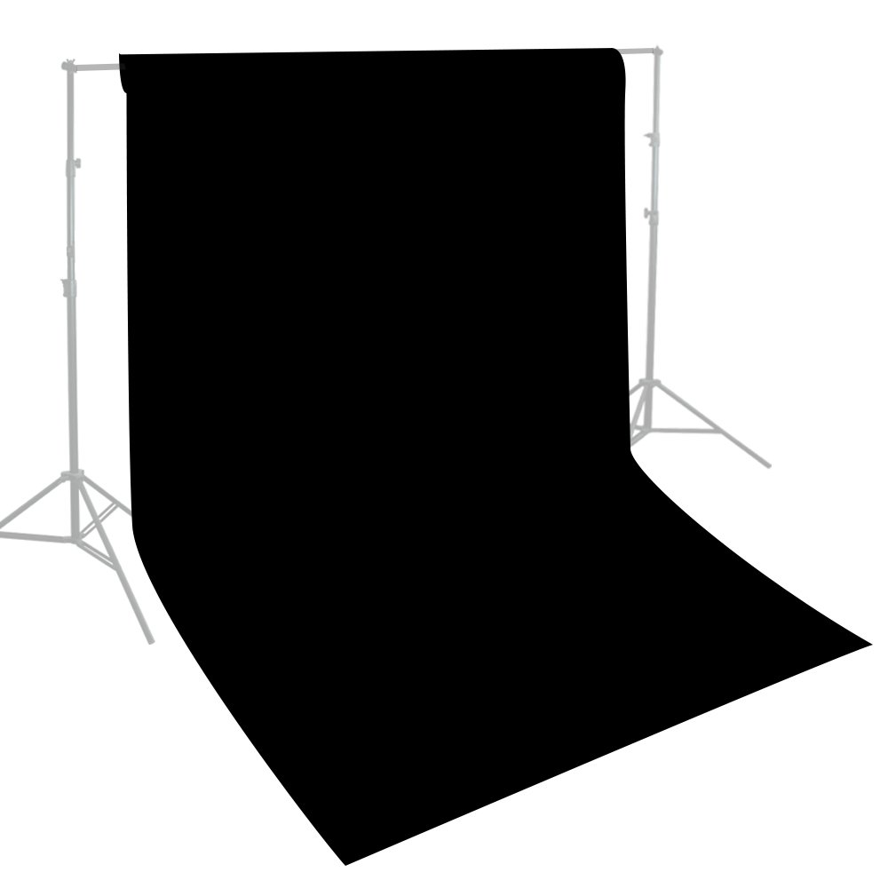 Julius Studio 10 x 10 ft. Photo Video Studio Seamless Solid Black Muslin Backdrop Photo Studio Background, JSAG275