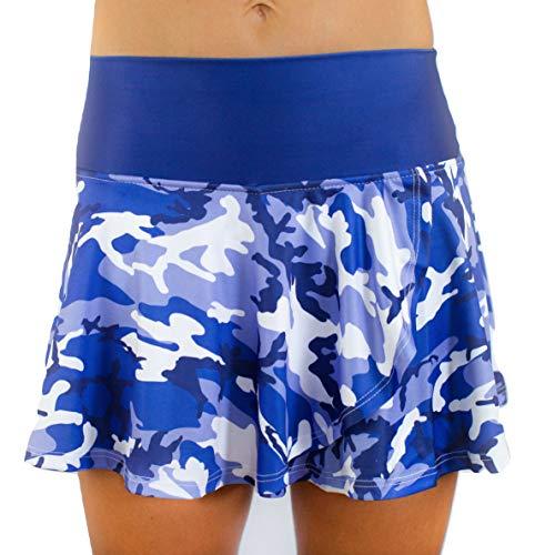 Faye+Florie Holly Tennis Skirt (Blue Camo, Medium)