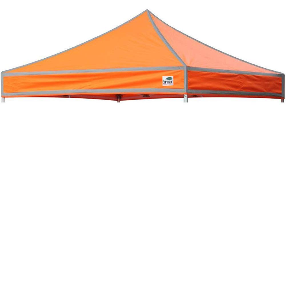 Eurmax New Pop up 10x10 Canopy Replacement Instant Ez Canopy Top Cover (High Vision Orange)