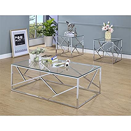 3 Piece Glass Top Coffee Table Sets.Furniture Of America Rosemeade 3 Piece Glass Top Coffee Table Set