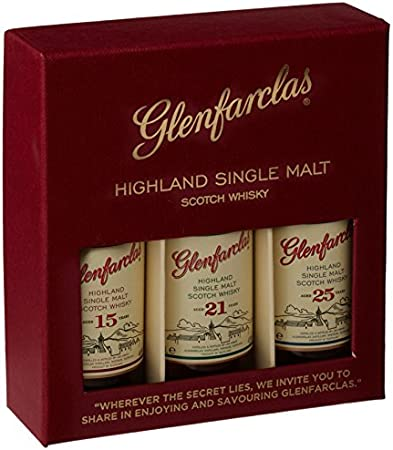 Glenfarclas Mini Tri Pack 15/21/ 25 Year Old Whisky 5 cl (Case of 3)