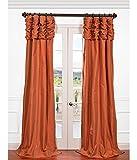 Cheap HPD HALF PRICE DRAPES Half Price Drapes PTCH-205-108-RU Ruched Faux Silk Taffeta Curtain, Harvest Orange