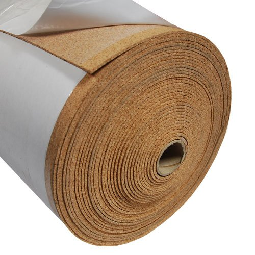 Fine Grain Cork Adhesive - 1/8'' Thick X 48'' Wide X 120' Long by The Felt Store