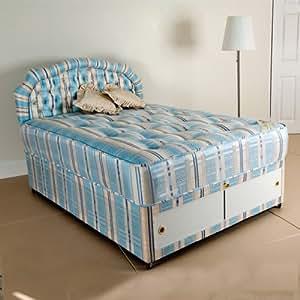 Deluxe Beds Ltd 6ft Royalty abierto primavera cama Diván ortopédica–cabecero de cama a juego–4cajones Continental