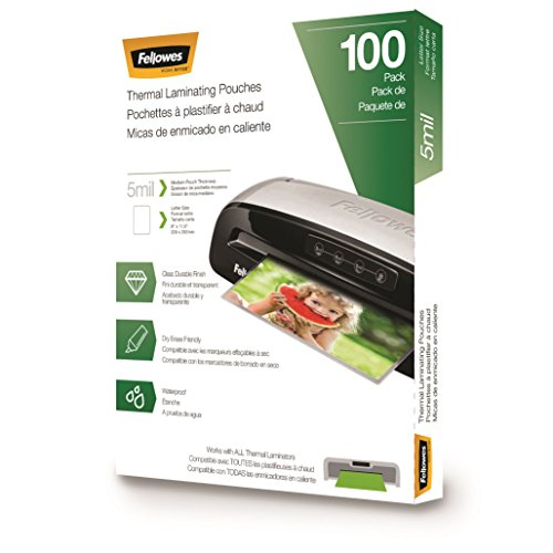 Fellowes Laminating Pouches, Letter Size, 5 mil, 100 pack (5743501)