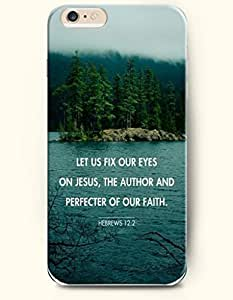iPhone 6 Case,OOFIT iPhone 6 (4.7) Hard Case **NEW** Case with the Design of let us fix our eyes on jesus, the author and perfecter of our faith hebrews 12:2 - Case for Apple iPhone iPhone 6 (4.7) (2014) Verizon, AT&T Sprint, T-mobile