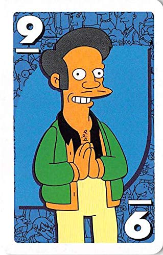 Apu trading card gaming The Simpsons Uno #9 color may vary Kwik E Mart Owner